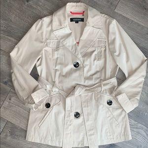 Ellen Tracy Khaki Short Trench Jacket (PM)
